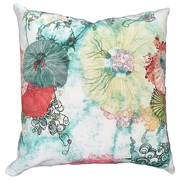 Collier Sun Life at Sea Throw Pillow; 19.5'' H x 19.5'' W