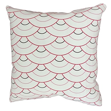 Collier Sun Rosey Circle Throw Pillow; 17.5'' H x 17.5'' W