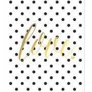 Secretly Designed 'Gold Foil Polka Dot Love' Graphic Art