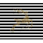 Secretly Designed 'Glitter Gold Reindeer' Graphic Art