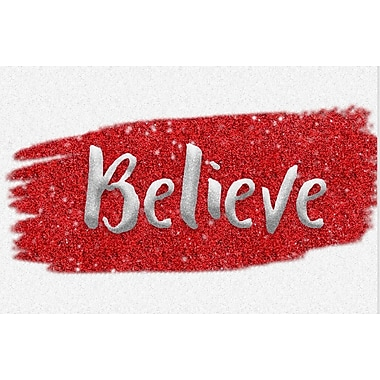Secretly Designed 'Red and Silver Believe' Textual Art