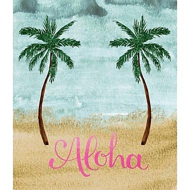 Secretly Designed 'Aloha Double Palm Tree' Graphic Art
