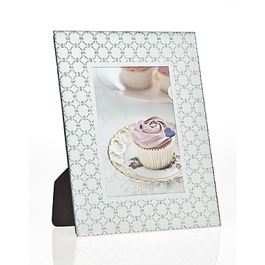 Philip Whitney Linked Ring Glitter Picture Frame; 4'' x 6''