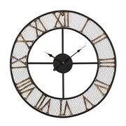 UtopiaAlley Rustic Living 24'' Mesh Roman Wall Clock