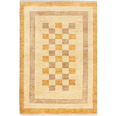 ECARPETGALLERY Peshawar Ziegler Hand-Knotted Brown/Orange Area Rug