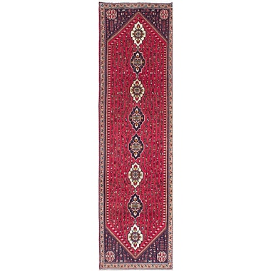 ECARPETGALLERY Abadeh Hand-Knotted Red Area Rug
