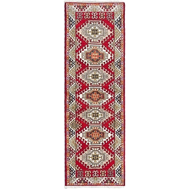 ECARPETGALLERY Royal Kazak Hand-Knotted Red Area Rug