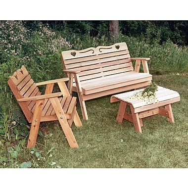 Creekvine Designs Cedar Furniture and Accessories 3 Piece Seating Group ; No Finish