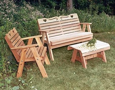 Creekvine Designs Cedar 3 Piece Sofa Set; No Finish