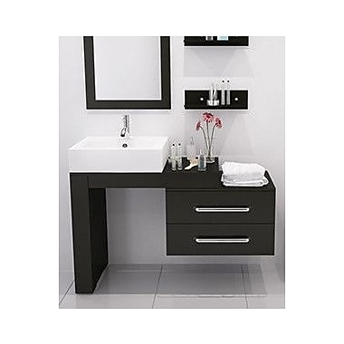 JWH Living Scorpio 57'' Single Wall Mounted Modern Bathroom Vanity Set