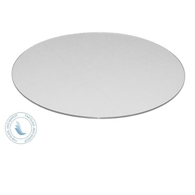 Fab Glass and Mirror Round Flat Tempered Back Painted Glass Table Top; White