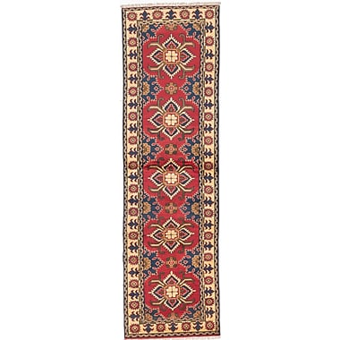 ECARPETGALLERY Kargahi Hand-Knotted Red Area Rug
