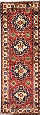 ECARPETGALLERY One-of-a-Kind Kargahi Hand-Knotted Red Area Rug