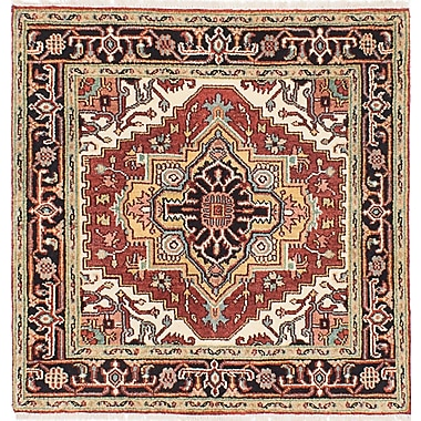 ECARPETGALLERY Serapi Heritage Hand-Knotted Red Area Rug