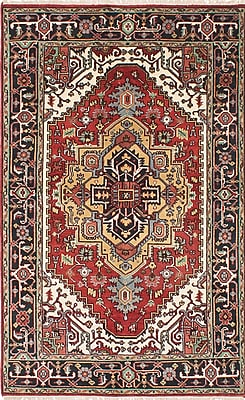 ECARPETGALLERY Serapi Heritage Hand-Knotted Blue/Red Area Rug