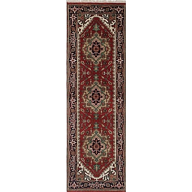 ECARPETGALLERY Serapi Heritage Hand-Knotted Brown/Red Area Rug