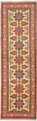 ECARPETGALLERY One-of-a-Kind Kargahi Hand-Knotted Red/Blue Area Rug