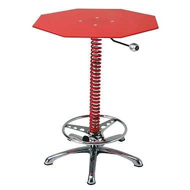 Intro-Tech – Table de bar Pole Position BT7000R, 32 x 42(po), 57 lb, rouge, 36 x 36 x 7 (po), 56 lb