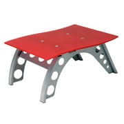 "Intro-Tech ST9000R Side Table, 18.5"" x 27.5"" x 12.5"", 40 lbs, Red, 32"" x 25"" x 16"", 39 lbs."
