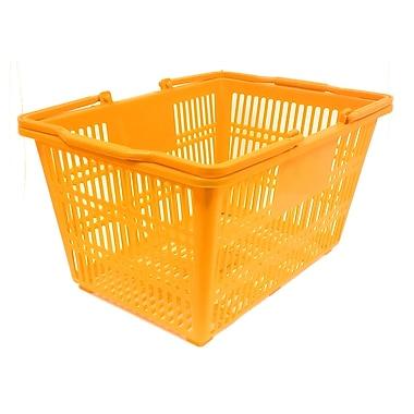 Plastic Handle Hand Shopping Basket, Orange, 10/Pack (38-4401-ORAN)