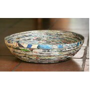 Novica Vortex Recycled Paper Decorative Bowl