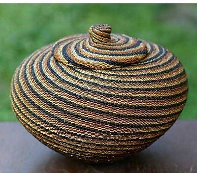 Novica Earth Currents Beaded Rattan Basket