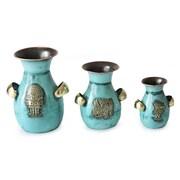 Novica 3 Piece Inca Inheritance Vase Set