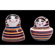 TopChoice 2 Piece Russian Doll Salt and Pepper Set