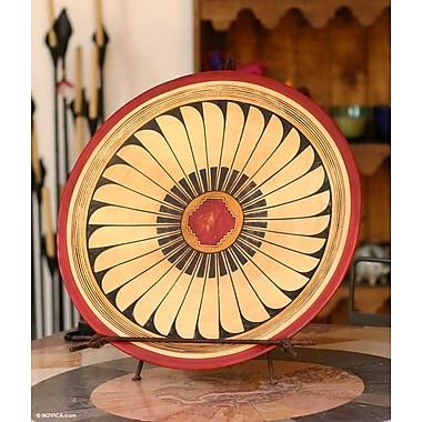 Novica Warrior Shield Ceramic Decorative Plate