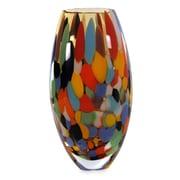 Novica Carnival Confetti Hand Blown Art Glass Vase