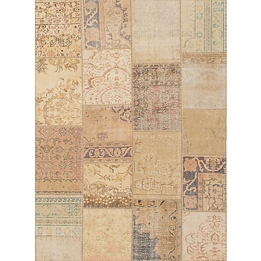 ECARPETGALLERY Hand-Knotted Beige Area Rug