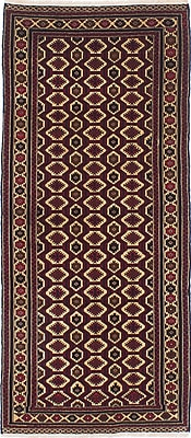ECARPETGALLERY One-of-a-Kind Rizbaft Hand-Knotted Red / Beige Area Rug