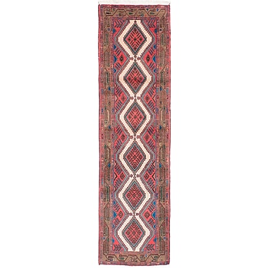 ECARPETGALLERY Koliai Hand-Knotted Red Area Rug