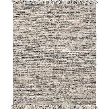 ECARPETGALLERY Manhattan Flat-Woven Beige/Gray Area Rug