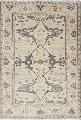 ECARPETGALLERY One-of-a-Kind Royal Ushak Handmade Gray / Ivory Area Rug