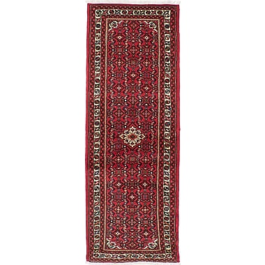 ECARPETGALLERY Hosseinabad Hand-Knotted Red Area Rug