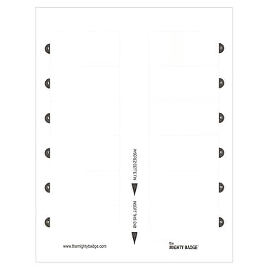 The Mighty Badge – Insert SheetsMC, laser/jet d'encre, blanc, 1,5 x 3 po, 60/paquet (901857)