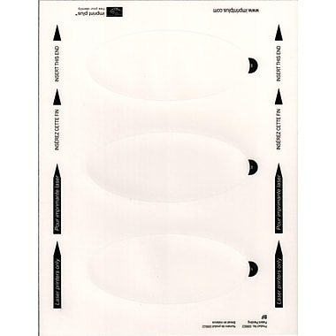 The Mighty Badge Standing Sign Insert Sheets™, Laser, Clear, 2.32