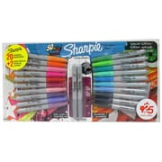 Assorted Colour Sharpie Markers, Fine Point, 20/Pack, +2 Bonus