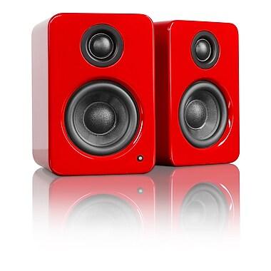 Kanto – Haut-parleurs de bureau alimentés YU2, rouge lustré