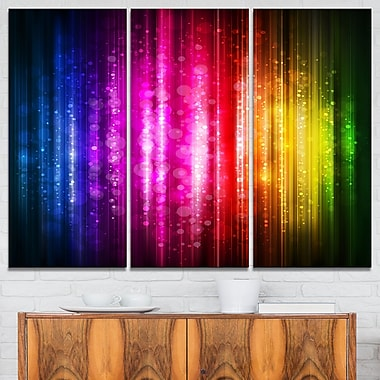 Glowing Background Abstract Metal Wall Art, 36x28, 3 Panels, (MT6023-36-28)