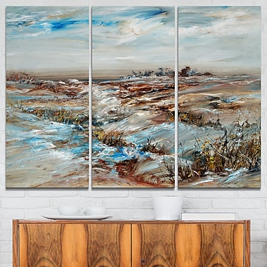 Snowy Landscape Metal Wall Art, 36x28, 3 Panels, (MT6002-36-28)