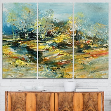 Abstract Landscape Abstract Metal Wall Art, 36x28, 3 Panels, (MT6009-36-28)