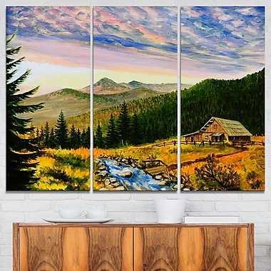 Sunset in Mountains Landscape Metal Wall Art