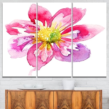 Full Bloom Pink Flower Floral Metal Wall Art