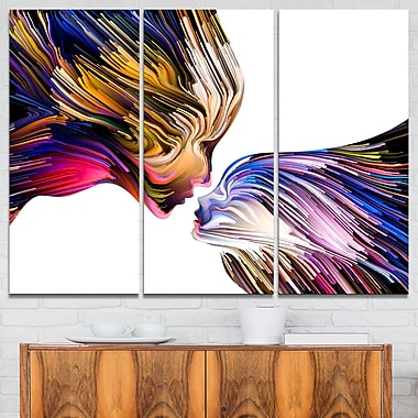 Metaphorical Mind Painting Contemporary Metal Wall Art, 36x28, 3 Panels, (MT6015-36-28)