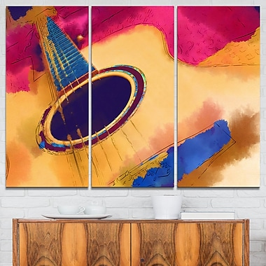 Listen to the Colourful Music Music Metal Wall Art, 36x28, 3 Panels, (MT6018-36-28)