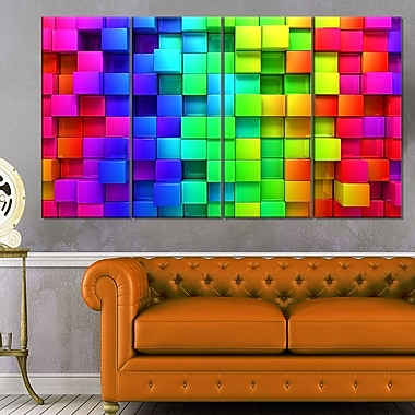 Rainbow of Colourful Boxes Abstract Metal Wall Art