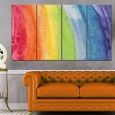 Flowing Rainbow Colours Abstract Metal Wall Art, 48x28, 4 Panels, (MT6031-271)