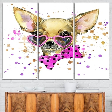 Puppy Dog in WaterColour Animal Metal Wall Art
